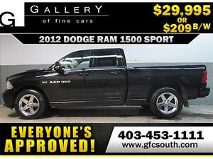 2012 DODGE RAM SPORT CREW *EVERYONE APPROVED* $0 DOWN $209/BW