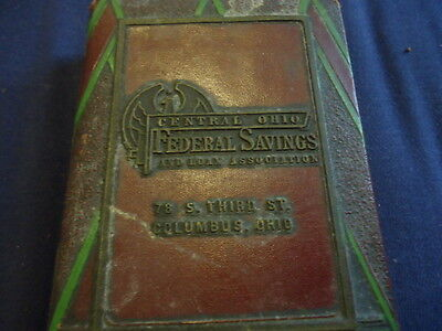 Vintage Central Ohio Federal Savings   Loan Cast Iron Bank Columbus  Oh