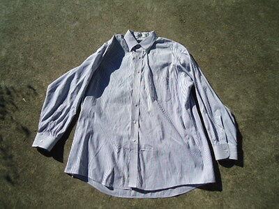 Stafford Executive Men's Gray & White Pinpoint Oxford Long Sleeve Shirt  17/33 - Executive Long Sleeve Oxford Shirt