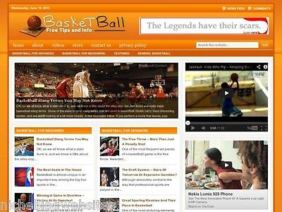Basketball   Nba Tips Niche Wordpress Blog Website For Sale