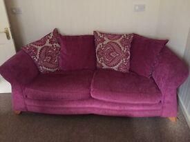 Cerise pink sofa Reepham