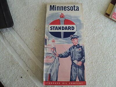 Vintage 1956 Standard Oil Map Minnesota