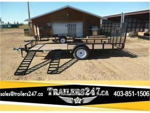 """NEW  77"""" x 14ft Utility Trailer by SWS -*-*Side Loading Ramps*-"""