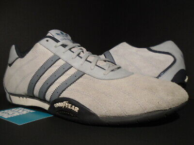 2005 ADIDAS ADI RACER LOW GOODYEAR RACING SHOES GREY BLUE BLACK WHITE 748570 13 for sale  Shipping to India