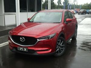 2017 Mazda CX-5 KF4W2A Akera SKYACTIV-Drive i-ACTIV AWD Soul Red Crystal 6 Speed Sports Automatic North Lakes Pine Rivers Area Preview