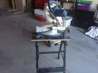 Mitre saw with saw horse