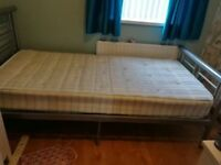 Single bed (grey metal frame) **EXCELLENT CONDITION**