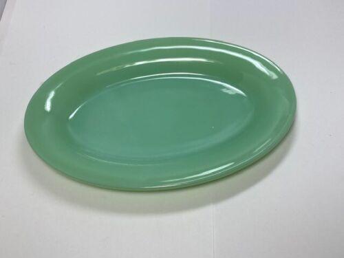 Fire King Restaurant Ware Jadeite 9 1/2 inch Oval Platter - Excellent Condition!