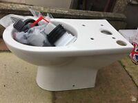 Toilet base and flush kit (new)