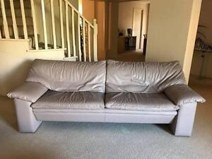 Leather Couch - 3 seater plus 2 chairs Doncaster Manningham Area Preview