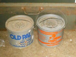 Old Pal galvanized minnow bucket London Ontario image 7