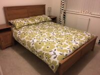 IKEA Aspelund Double Bed and Mattress