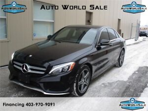 2015 MERCEDES BENZ C300 |AMG PACK -AWD \NAVI\PAN ROOF