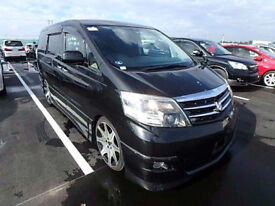 FRESH IMPORT LATE 2005 FACE LIFT TOYOTA ALPHARD AUTOMATIC BLACK ESTIMA ELGRAND