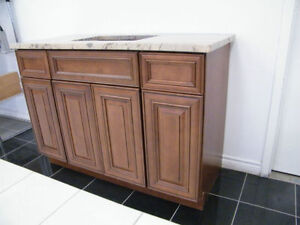 Wood Vanities On Sale With Granite Countertops @ QuebecKitchens West Island Greater Montréal image 4