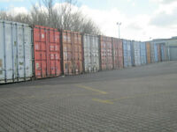 Self contained metal container business domestic storage & lockable box internal storeage