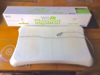 Wii Fit Game Balance Board & Cover with Yoga Exercise Mat
