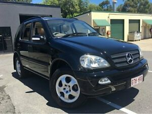 2002 Mercedes-Benz ML320 W163 Luxury Wagon 4dr Spts Auto 5sp 4x4 3.2i Black Sports Automatic Wagon Southport Gold Coast City Preview