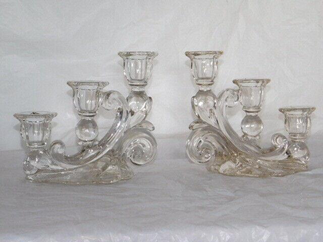 antique set candle holders candlesticks table centerpiece dresser wedding decor