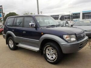 1999 Toyota Landcruiser Prado VZJ95R Snowy GXL Blue 4 Speed Automatic Wagon North St Marys Penrith Area Preview