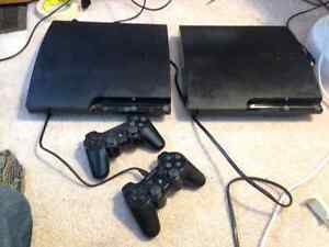 PS3 with 120GB hard drive, 1 remote, 3 games