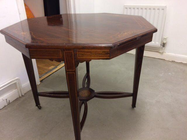 Table - Octagonal- Victorian - Antique