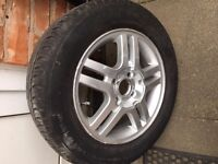 Alloy with tyre £50 only