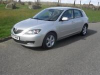 Mazda Mazda3 1.6 TS 2008 ONLY 77080 Mls MOT 2/4/18 Family Owned 5 Dr Silve