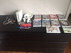 Nintendo Wii with Accessories and 10 Games
