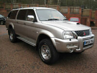 2004 54 Mitsubishi L200 2.5 TD Ltd Double Cab Warrior Silver Metallic
