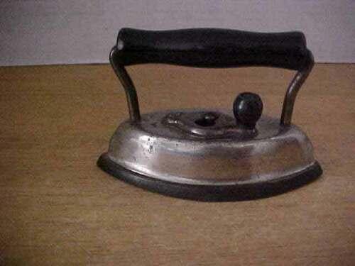 Sad Iron Dover No. 902 Salesman Sample Toy Black Wooden Handle Vintage