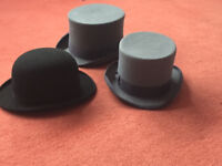 Tops hats and Bowler Hat for Halloween or Stage Show