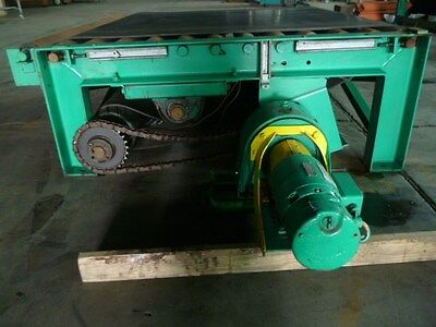 Used Chain Belt Driven Live Roller Pallet Roll Conveyor