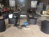 DJ , band, or PA gear used job lot