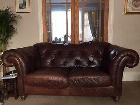 Large Leather Natuzzi sofa