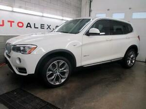 2017 BMW X3 xDrive28i AWD NAVIGATION CAMERA TOIT PANO. MAGS 19