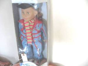 "18"" TOLLY GIRL AG CLONE NIB GREEN EYE DOLL DENIM COAT, SUIT, HAT"