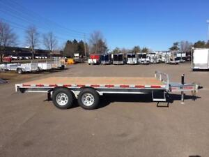 "NEW 2018 K-TRAIL 102"" x 16' GALVANIZED DECK-OVER TRAILERS"