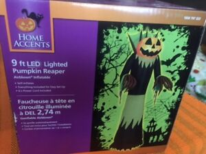 9 ft Airblown Inflatable Halloween LED Pumpkin Reaper Brand New!