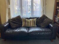 Free Two Leather sofas.