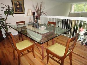 ****Glass Dining Set with Antique Chairs- Moving+ More Items****