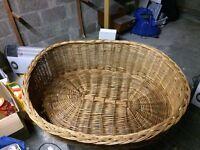dog basket large woven oval dog basket