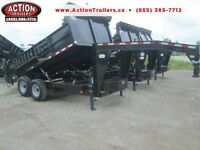 GOOSENECK DUMP 7 ton 7 x 14' - HEAVY BUILT, pay monthly $198