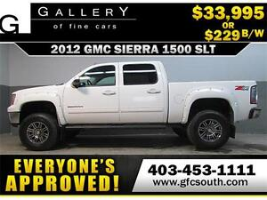 2012 GMC SIERRA SLT LIFTED *EVERYONE APPROVED* $0 DOWN $229/BW!