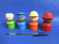 4 different TUPPERTOYS PEOPLE by TUPPERWARE