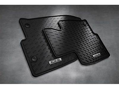 2016-2018 Mazda CX-9 Front All Weather Rubber Floor Mats (set of 2) 0000-8B-N34