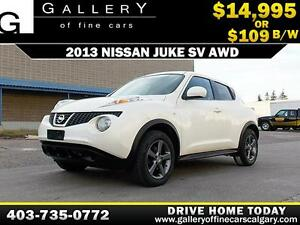2013 Nissan Juke SV AWD $109 bi-weekly APPLY NOW DRIVE NOW