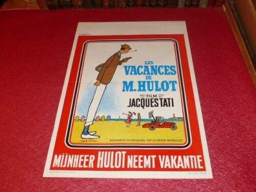Cinema Poster Original Belgian - Jacques Tati Holiday Mr Hulot Ca 1970