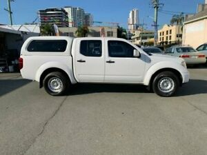 2013 Nissan Navara D40 MY12 RX (4x4) White 5 Speed Automatic Dual Cab Pick-up Southport Gold Coast City Preview