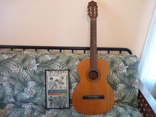 Vintage Marked Vicente Tatay Tomas Classical Guitar From Spain